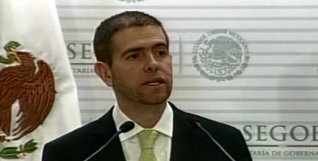 A 19 días de haber asumido el cargo de comisionado, el funcionario federal dijo que también que se han liberado a nueve personas víctimas de secuestro