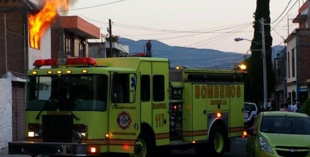 Sólo se reportaron daños materiales, de acuerdo con la información proporcionada por el Ayuntamiento de Morelia
