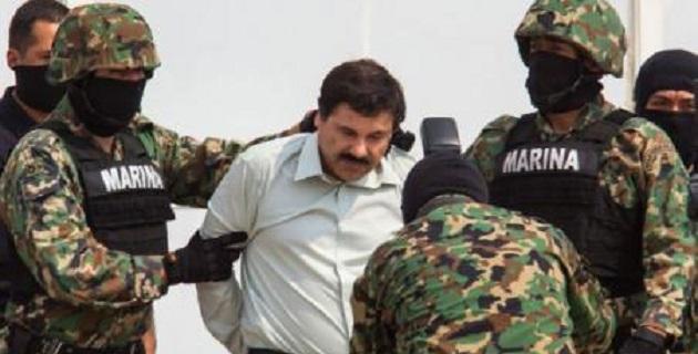 Guzmán Loera fue detenido la mañana de este sábado en la ciudad de Mazatlán, Sinaloa, y trasladado al hangar de la Secretaría de Marina, donde el titular de la PGR, Jesús Murillo Karam, dio pormenores de su detención