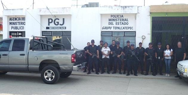 El procurador José Martín Godoy Castro, dispuso la reapertura de la representación social en la cabecera municipal de Aguililla, dotándola de los elementos humanos y materiales para su óptima operación