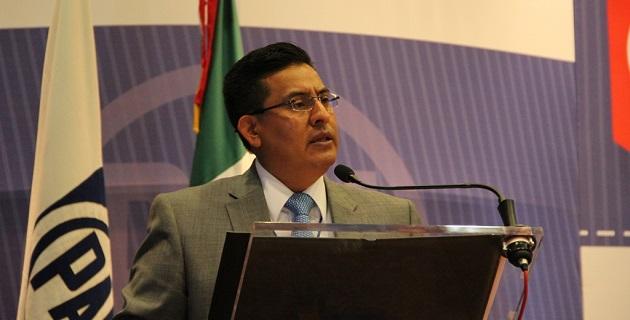 Miguel Ángel Chávez emitió un informe y pronunciamiento político con motivo de la Asamblea Estatal del PAN realizada en Morelia este domingo 9 de marzo