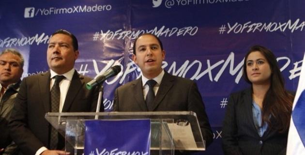 Madero Muñoz tiene garantizado el respaldo de la mayoría de la militancia michoacana en la elección interna para dirigir al Partido Acción Nacional, señaló Cortés Mendoza