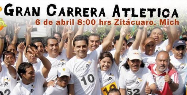 La Carrera Atlética Activos con Silvano se realizará este domingo 6 de abril en Zitácuaro