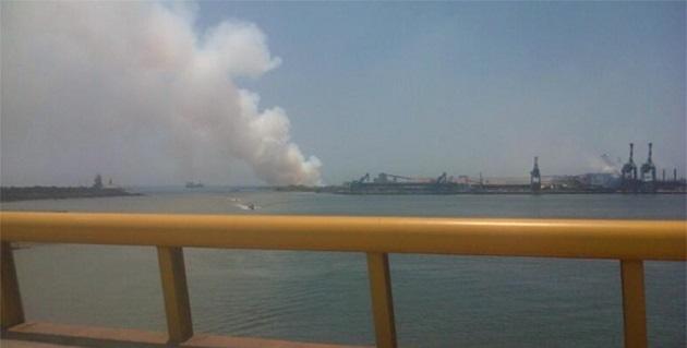 El incendio y fuga afectaron al almacén de residuos químicos número dos de esa empresa, ubicada en la zona industrial de Lázaro Cárdenas