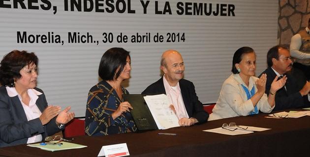 El gobernador reconoció la coordinación que existe con la Federación y que gracias a eso nuestro Estado sigue avanzando sólidamente en el cumplimiento de los objetivos del Plan Michoacán