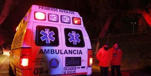 El herido se encuentra delicado y fue auxiliado por elementos del Grupo Tigre, de seguridad privada