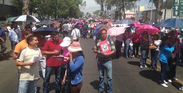 Inusualmente, se tienen reportes de que la marcha del magisterio michoacano podría partir desde el Palacio del Arte hacia Palacio de Gobierno