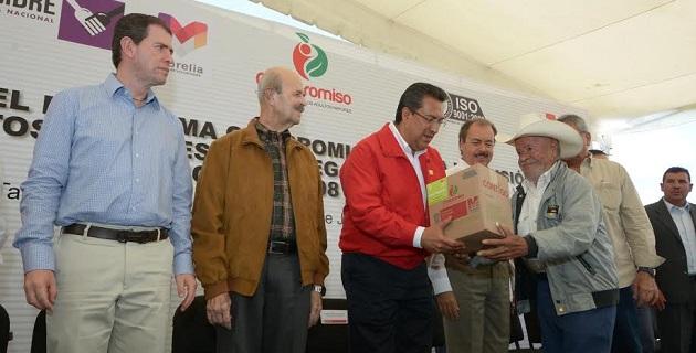 El alcalde Wilfrido Lázaro agradeció la preferencia para que la capital michoacana fuera punta de lanza para este programa que hace justicia social por la nutrición de los adultos mayores