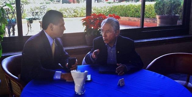 Aureoles Conejo comentó que momento que vive el Estado de Michoacán, con motivo de la separación de Fausto Vallejo, es una gran oportunidad para reencauzar la vida institucional y recuperar la normalidad democrática