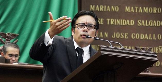 El diputado resaltó las bondades del Código Electoral para el Estado de Michoacán