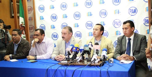 Integrantes del Comité Directivo Estatal del PAN se reunieron para ofrecer una rueda de prensa en torno a temas de carácter electoral