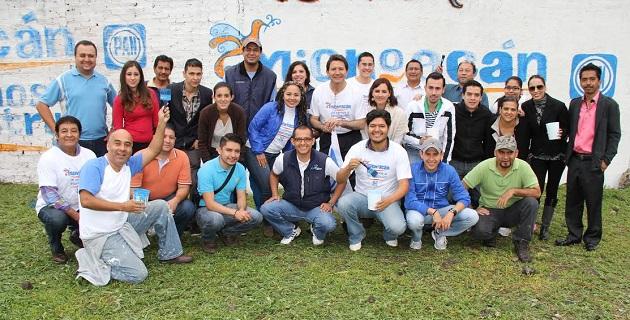 Serán los fines de semana venideros, en los que militantes del PAN de la capital michoacana salgan a las calles para ayudar ellos mismos a la pinta de las bardas y entrega de volantes
