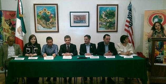 La vicepresidenta del Congreso del Estado participó en la firma del convenio para reforzar los lazos de colaboración con migrantes michoacanos y el gobierno del estado a través de la Secretaría del Migrante