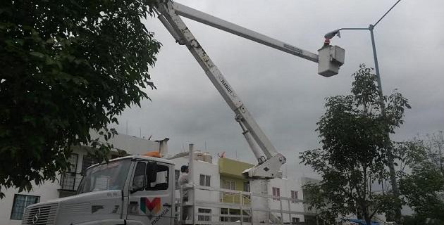 El propósito es avanzar en la cobertura total de la red de alumbrado de la capital michoacana