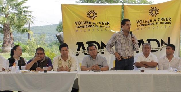 La asamblea, presidida por Carlos Torres Piña, dirigente estatal del PRD y de la expresión política en Michoacán, tuvo la finalidad de discutir los problemas que enfrenta la entidad