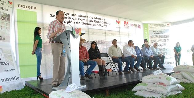 Para la dotación de fertilizante químico de erogaron casi 50 mdp, favoreciendo a 19 mil productores