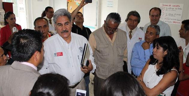 Se harán algunos relevos institucionales tanto en el Hospital como en el Centro de Salud de Ciudad de Hidalgo; por lo pronto dijo, queda como encargado de la Dirección del nosocomio, Gerardo Garduño Pérez