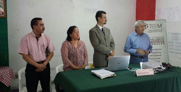 Molina Rojas, destacó que el conocimiento de las leyes es fundamental para contribuir a lograr procesos electorales sin complicaciones