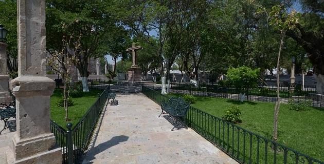 El mejoramiento al jardín Fray Antonio de Lisboa, situado a un costado del templo de San Diego, registra un avance de 90 por ciento