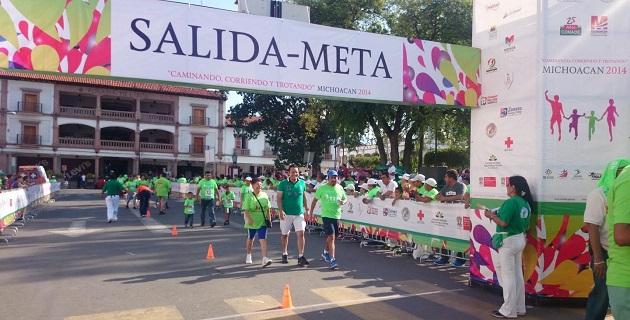 El legislador recordó que este tipo de carreras forman parte de las más de 250 acciones que contempla el Plan Michoacán que impulsa la federación para la recuperación del tejido social de la entidad