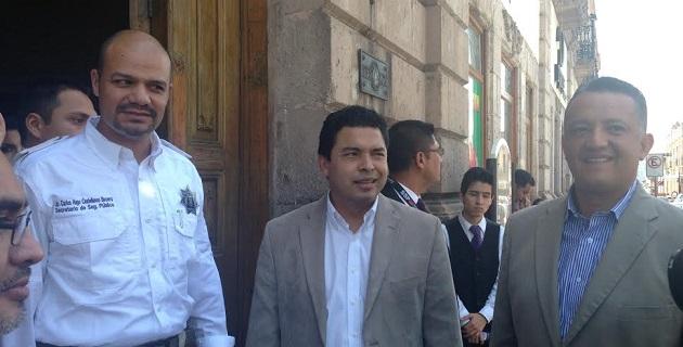 En la reunión estuvieron presentes los diputados Olivio López Mújica y César Morales Gaytán, integrantes de la Comisión de Seguridad Pública y Protección Civil del Estado de Michoacán