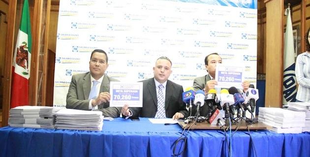 Por su parte, el secretario General del CDE, Carlos Quintana Martínez, resaltó que las firmas recabadas en Michoacán se sumarán para contribuir a la meta nacional de 1 millón 750 mil