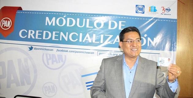 El trámite también puede realizarse en línea a través del sitio www.pan.org.mx