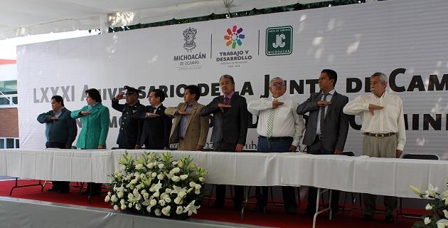 Se conmemoró también el 80 aniversario de la creación de la Junta de Caminos de Michoacán
