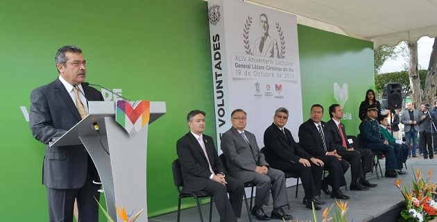 El orador oficial fue el senador de la República, Raúl Morón Orozco