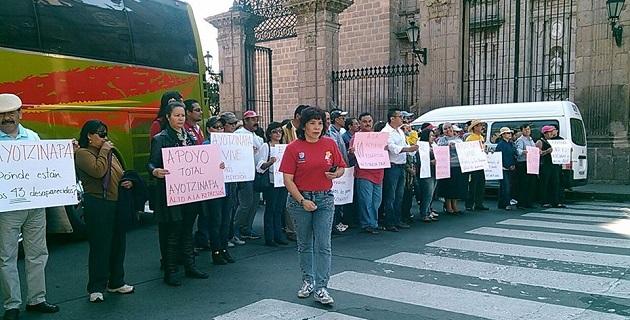 El bloqueo de los docentes comenzó alrededor de las 10:30 horas y terminó poco después de las 12:30 horas de este miércoles (FOTO: FRANCISCO ALBERTO SOTOMAYOR)