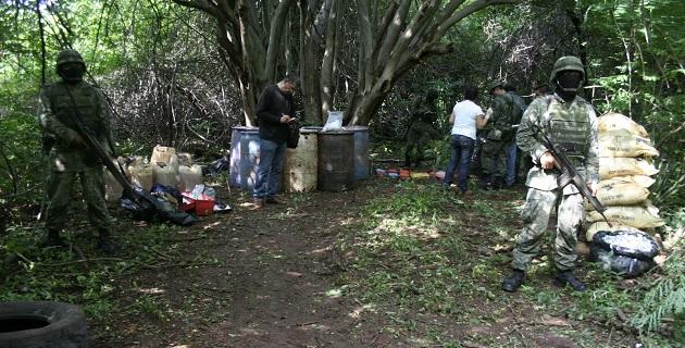 La inhabilitación de los precursores químicos -agregó- es derivada del aseguramiento de los laboratorios por acciones realizadas por la Delegación de la PGR en Michoacán