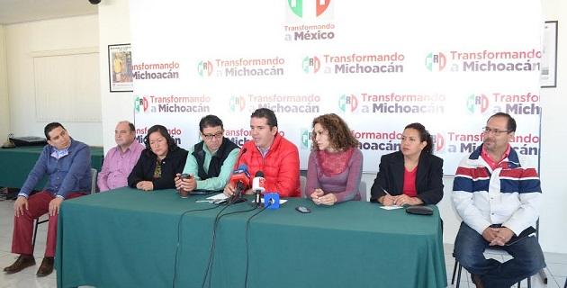 Camacho Quiroz visitará la capital michoacana con la finalidad de reunirse con comités municipales, seccionales y la estructura partidista en el estado