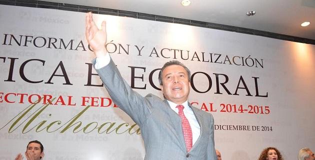 El líder nacional del Revolucionario Institucional, tomó protesta a la senadora de la República, Rocío Pineda, como Presidenta del ONMPRI en Michoacán