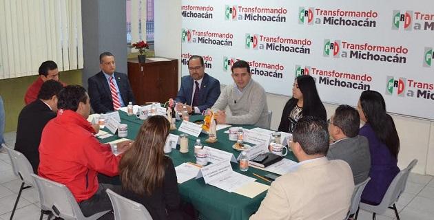 El presidente del Comité Directivo Estatal del PRI, Marco Polo Aguirre, dijo que esta Comisión representa la oportunidad de salir en cohesión con toda la militancia priísta del estado de Michoacán