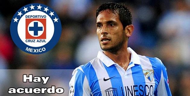 El conjunto del Málaga anunció en su página oficial que se llegó a un acuerdo con Cruz Azul para el pase del delantero Roque Santa Cruz