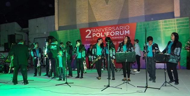 El Centro Municipal Polifórum Digital de Morelia cumplió dos años de trabajar para el público, y lo celebró con un gran evento musical para agradecer a los morelianos que sean parte de este espacio con causa