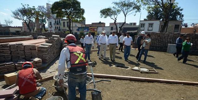 El presidente municipal de Morelia hizo una visita de supervisión a los trabajos que llevan un avance del 35 por ciento