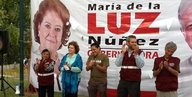 """""""Somos un partido en movimiento, un partido que exigirá a todos los gobernantes que de él emanen sean leales a los principios de MORENA y cumplan sus compromisos de campaña"""", dijo Núñez Ramos"""