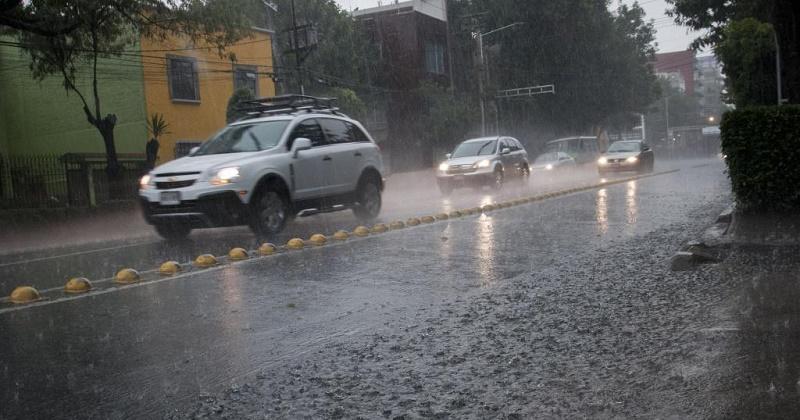 Para el Valle de México se pronostican precipitaciones muy fuertes con tormentas eléctricas y granizadas
