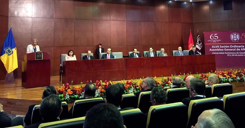 En Zapopan, Jalisco, la sesión de la ANUIES congregó a los rectores de las universidades públicas y privadas adheridas a la ANUIES