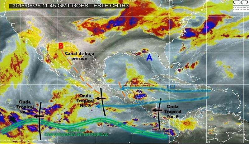 Se prevén lluvias fuertes con tormentas eléctricas, granizo y vientos fuertes en el sur del Estado de México, Puebla y Michoacán