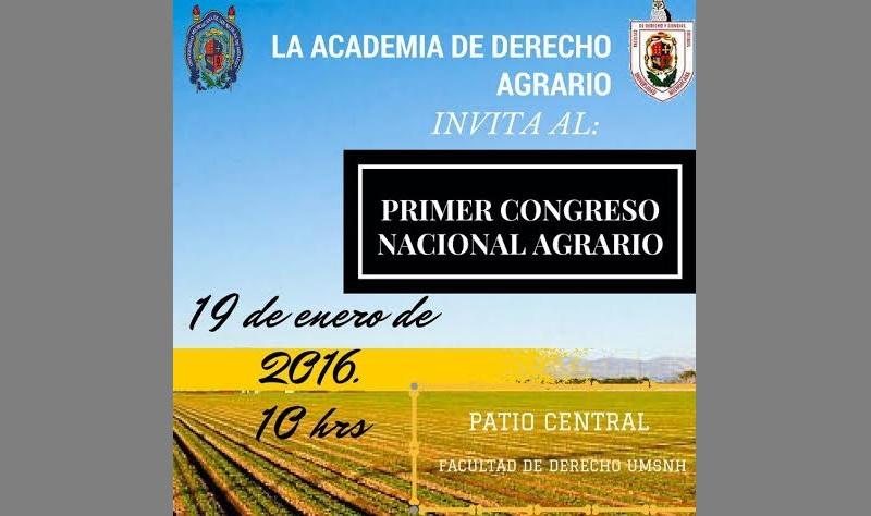En puerta, el Primer Congreso Nacional Agrario en la Facultad de Derecho y Ciencias Sociales