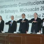 El mandatario asistió a la sesión solemne y toma de protesta para la instalación del Ayuntamiento Constitucional del municipio de Sahuayo 2016-2018