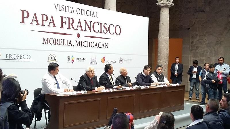 Más de 8 mil elementos vigilarán Morelia durante visita del Papa