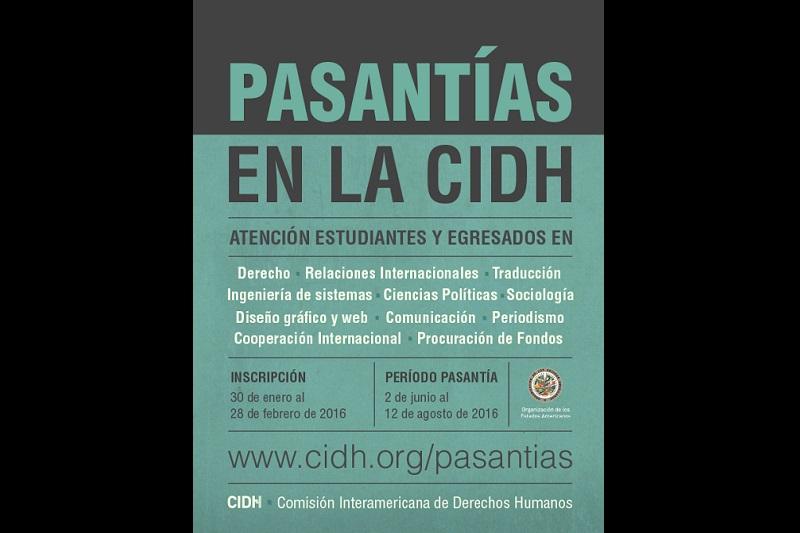 Para información adicional puede consultarse la página web de programa: http://www.oas.org/es/cidh/empleos/pasantias.asp