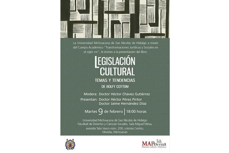 La presentación del libro se llevará a cabo el martes 9 de febrero a las 18:00 horas en la sala Miguel Mesa de la Facultad de Derecho y Ciencias Sociales