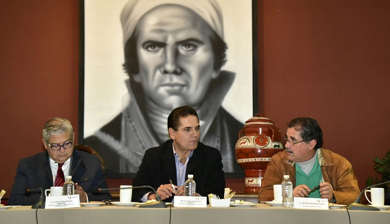 A este encuentro acudieron delegados sindicales, así como el coordinador de Asesores, Guillermo Rizo Hernández y el director de Pensiones Civiles, Ignacio Ocampo Barrueta
