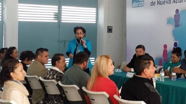 Entre los asistentes al curso se encuentra el primer presidente municipal aliancista electo en Purépero Cuauhtémoc Vega Robledo, así como el síndico de dicho lugar