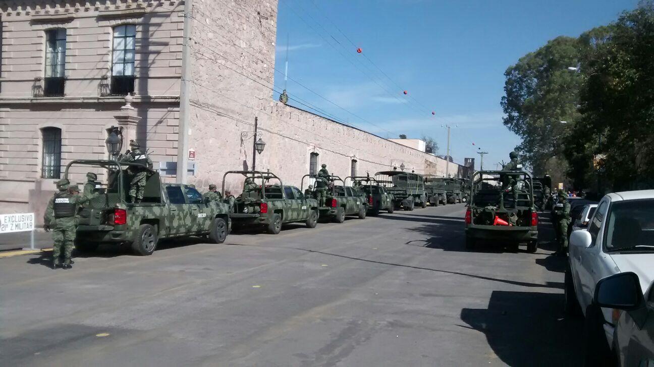 Durante los días previos se ha informado que serán más de 8 mil los elementos de las fuerzas del orden que garantizarán la seguridad en Morelia y sus alrededores durante la visita del Sumo Pontífice (FOTO: FRANCISCO ALBERTO SOTOMAYOR)