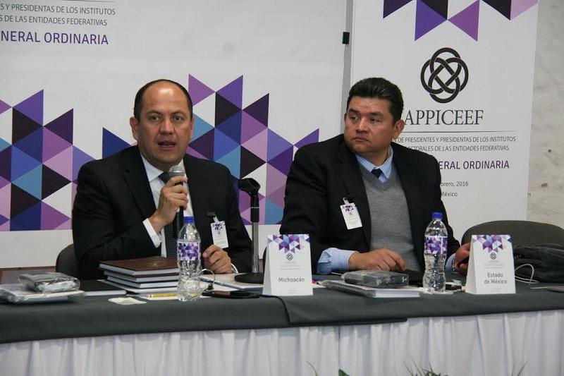 Hernández Reyes reiteró su compromiso al frente de APPICEEF para fortalecer la vinculación entre los Organismos Públicos Locales Electorales (OPLES) y el Instituto Nacional Electoral